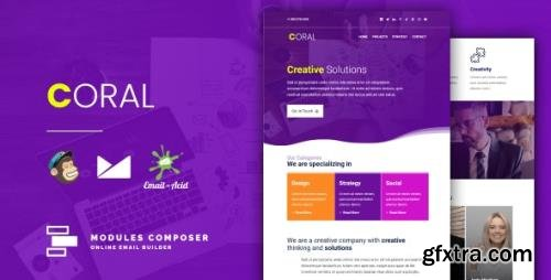 ThemeForest - Coral v1.0 - Responsive Email for Agencies, Startups & Creative Teams with Online Builder - 26003858