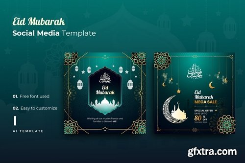 Eid Mubarak r1 Social Media