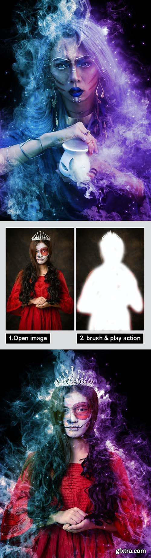 GraphicRiver - Magic Dust Photoshop Action 31098398