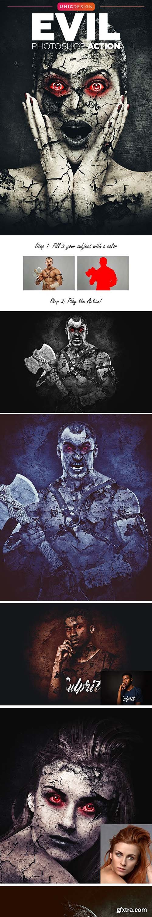 GraphicRiver - Evil Photoshop Action 20775590