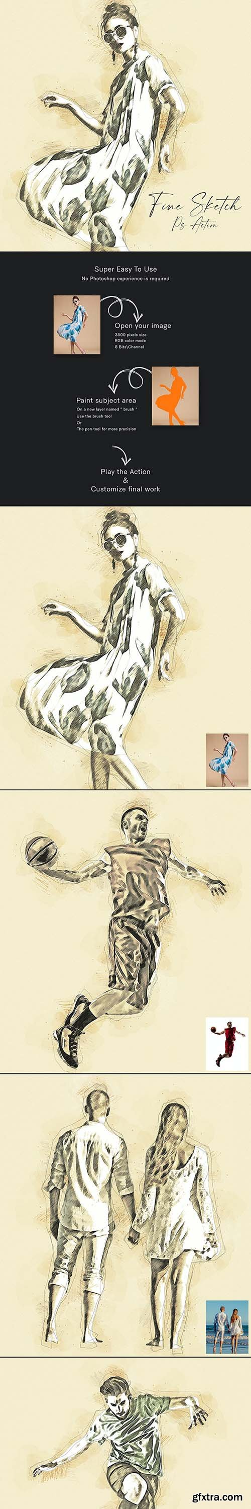 GraphicRiver - Fine Sketch Photoshop Action 31370147