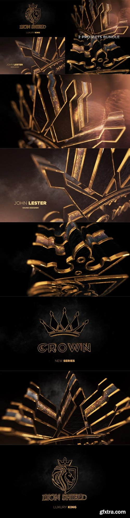 Videohive - Gold Black Luxury And Epic Logo Reveal - 31236797