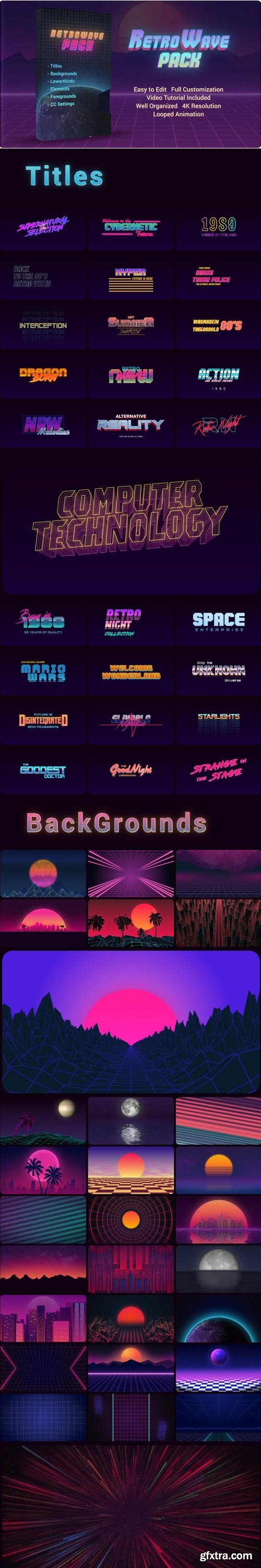Videohive - Retro Wave Pack - 28786036