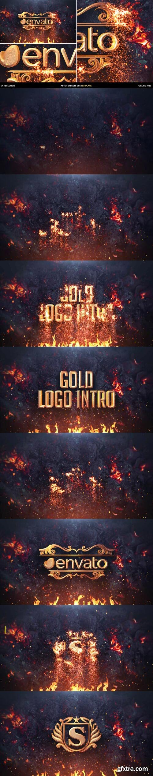 Videohive - Gold Particles Logo Intro - 30270705