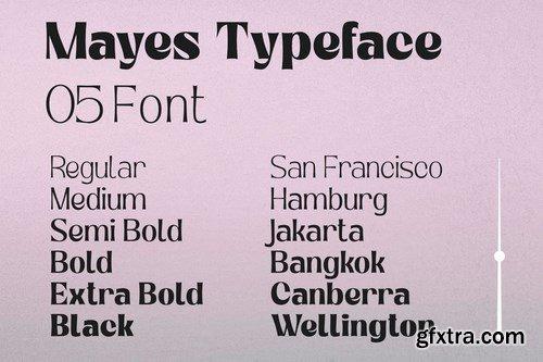 Mayes - Variable Font