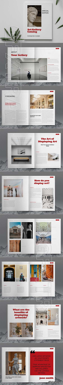 CreativeMarket - Art Gallery Catalog Layout Template 6083777