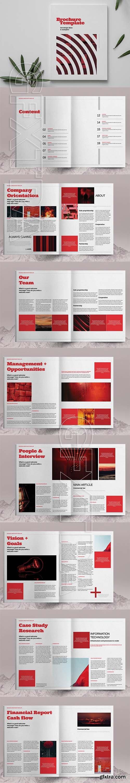 CreativeMarket - Red Business Brochure Template 6083779