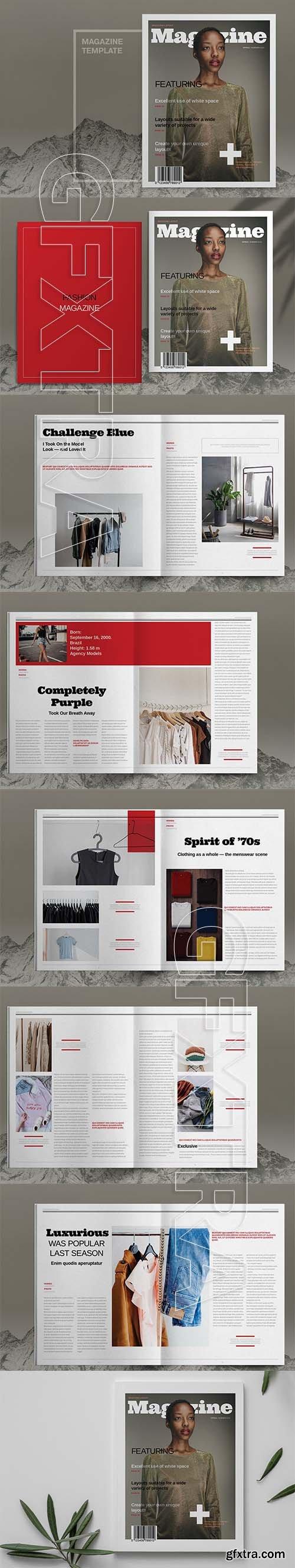 CreativeMarket - Fashion Magazine Layout Template 6083780