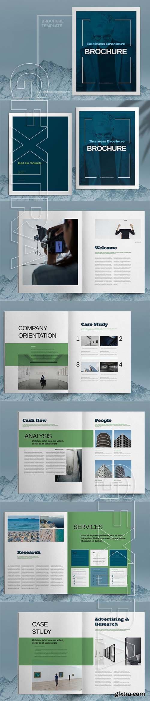 CreativeMarket - Blue Business Brochure Template 6083793