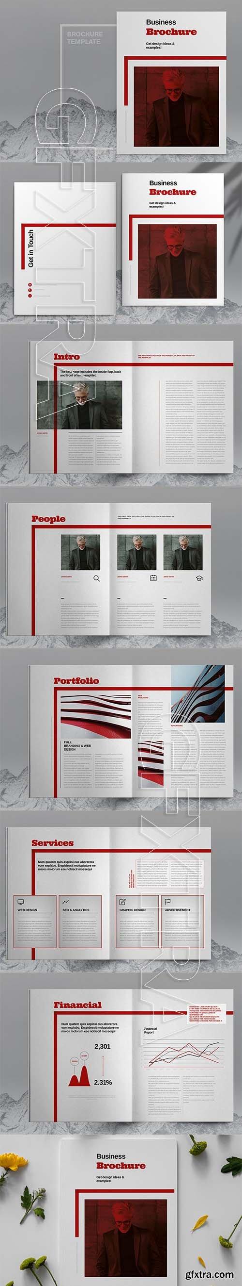 CreativeMarket - Red Business Brochure Template 6083799