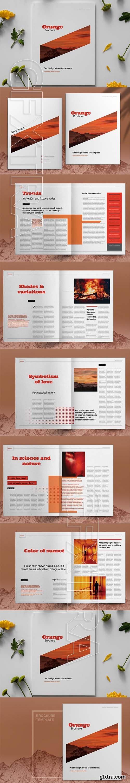 CreativeMarket - Orange Brochure Layout Template 6083796
