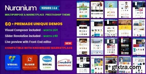 ThemeForest - Nuranium v1.6.0 - Multi-Purpose Marketplace Prestashop 1.7 Theme ( Compatible Knowband Marketplace ) - 26029343