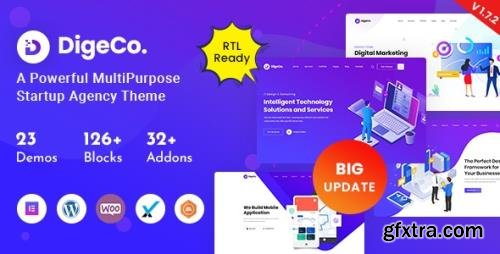 ThemeForest - Digeco v1.7.3 - Startup Agency WordPress Theme - 26063528