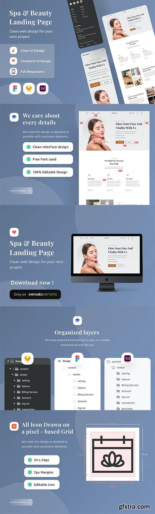 Spa & Beauty Landing Page