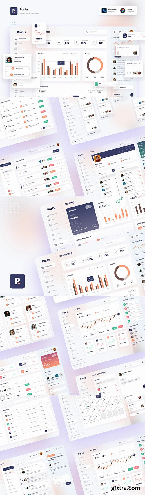 Portu - Elegant and Professional Admin Dashboard