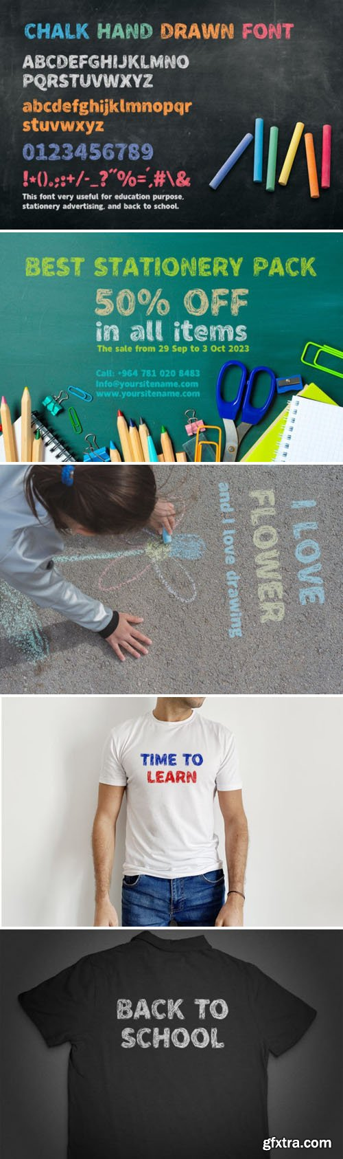 Chalk Hand Drawn - Sketch Display Font