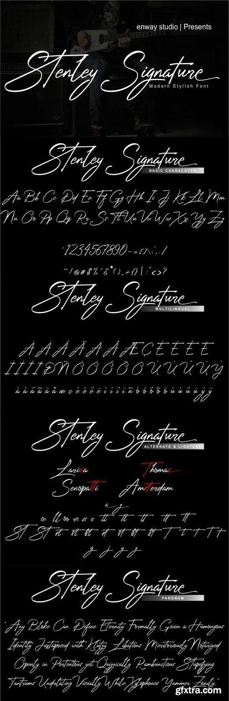 Stenley Signature - Modern Script Font