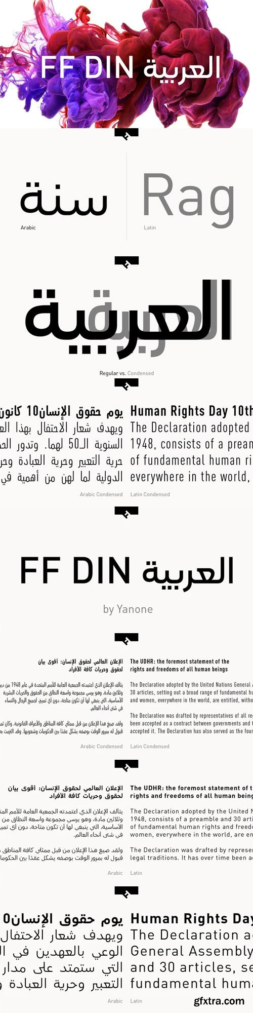 FF DIN Arabic Font Family [14-Weights]