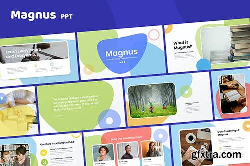 Magnus - Home Schooling Template Powerpoint