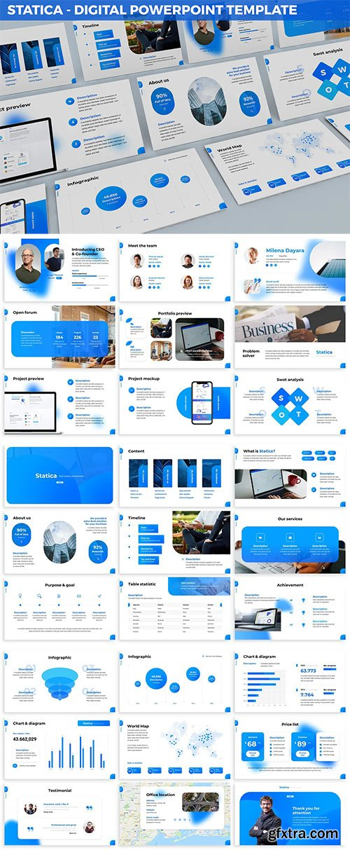 Statica - Digital Powerpoint Template