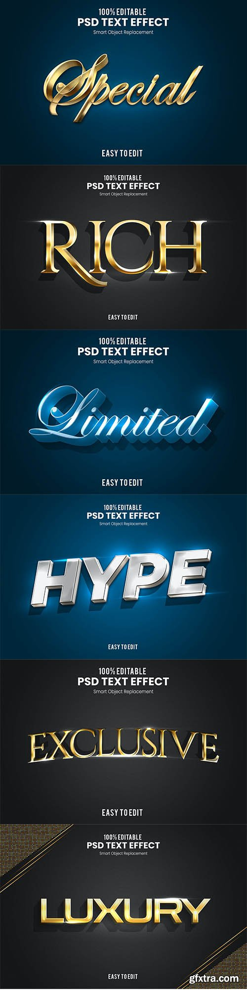Elegant 3D PSD Text Effect