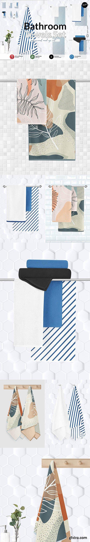 CreativeMarket - Bathroom Towel Set Mock-ups 6001005