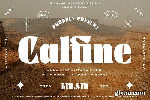 CM - Calfine - Bold Serif 6092135