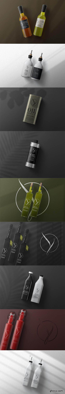 Oil olive bottle mockup