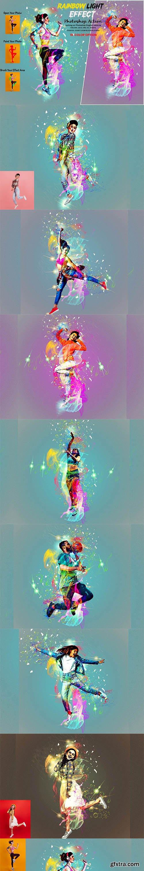 CreativeMarket - Rainbow Light Effect PS Action 5940257