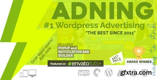 CodeCanyon - Adning Advertising v1.6.1 - Professional, All In One Ad Manager for Wordpress - 269693 - NULLED