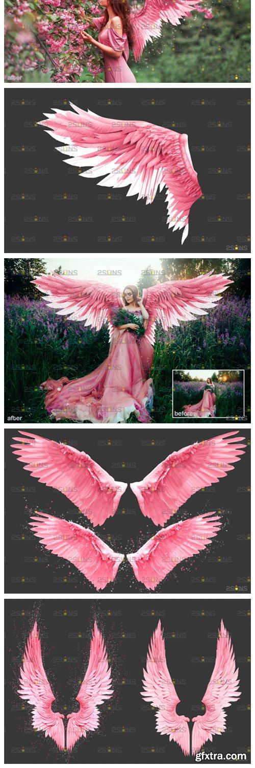 Pink Angel Wings Overlay 8559911