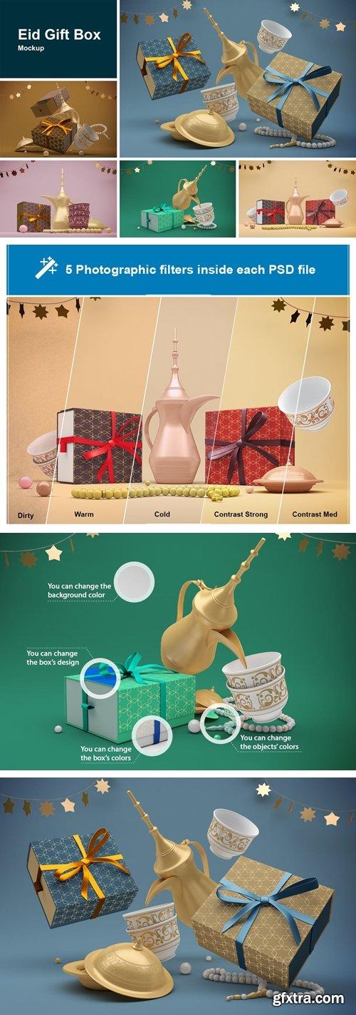 Eid Gift Box Mockup