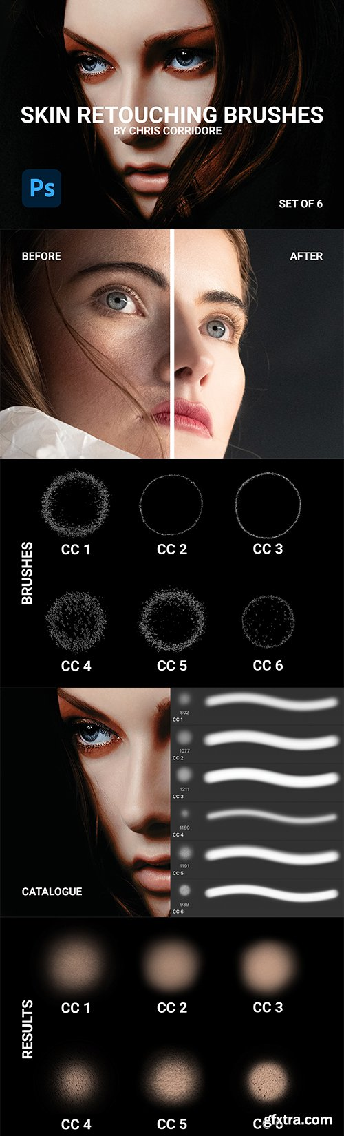 CreativeMarket - Skin Retouching Brushes (Set of 6) 5982366