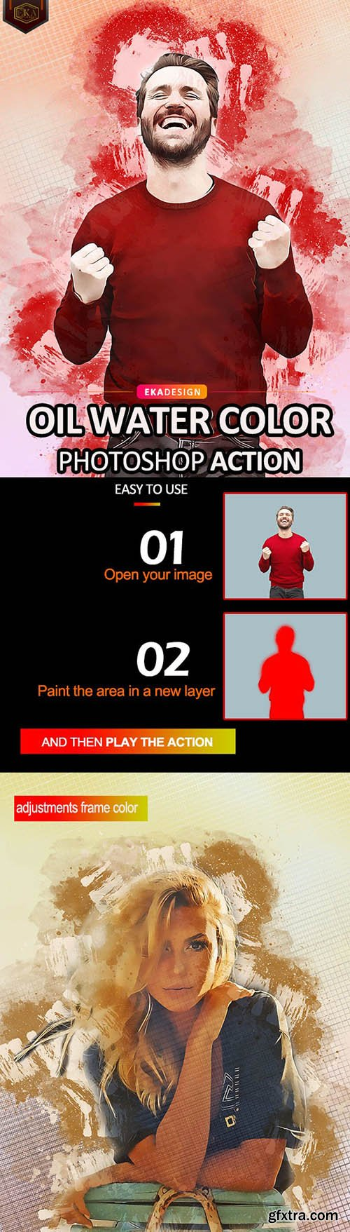 GraphicRiver - Oil Water Color Photoshop Action 30887072