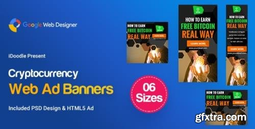 CodeCanyon - C77 - Cryptocurrency Banners HTML5 Ad (GWD & PSD) v1.0 - 24020485