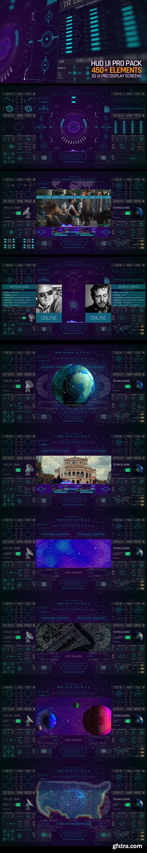 Videohive - HUD UI Pro Pack - 23822700