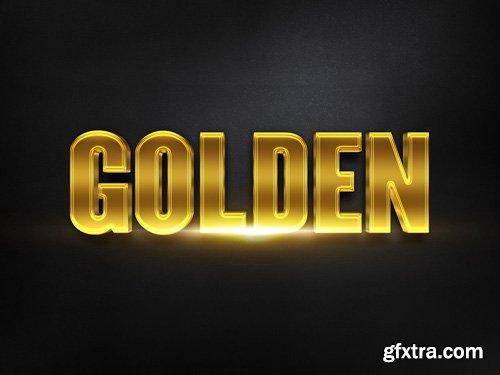 3D Gold Text Effect PSD Design Template vol 16