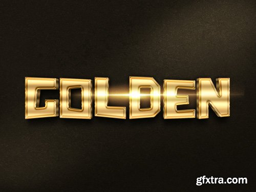 3D Gold Text Effect PSD Design Template vol 6