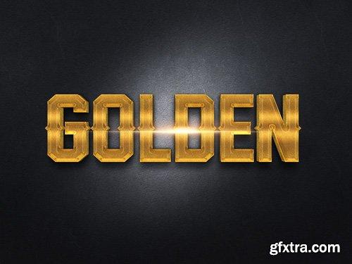 3D Gold Text Effect PSD Design Template vol 7