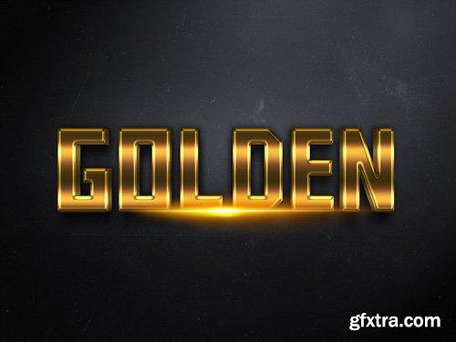 3D Gold Text Effect PSD Design Template vol 3