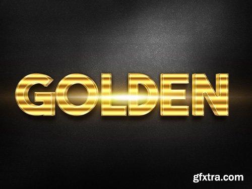 3D Gold Text Effect PSD Design Template vol 14