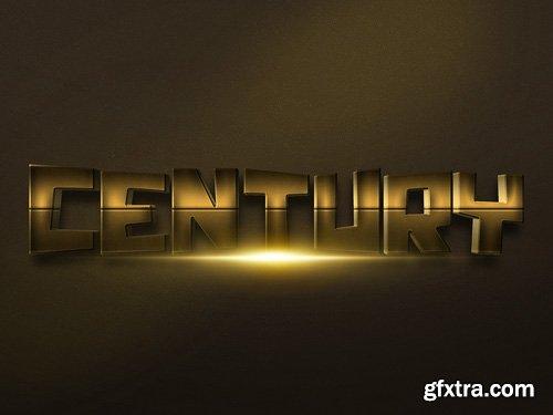3D Gold Text Effect PSD Design Template vol 15