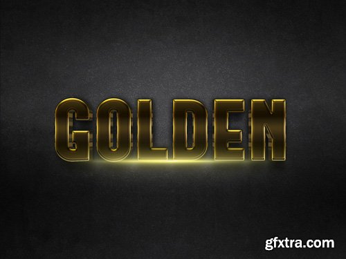 3D Gold Text Effect PSD Design Template vol 8