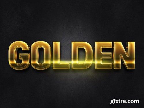 3D Gold Text Effect PSD Design Template vol 5