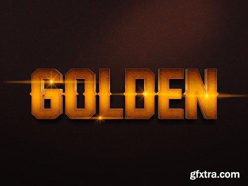 3D Gold Text Effect PSD Design Template vol 12