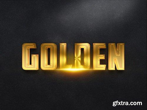 3D Gold Text Effect PSD Design Template vol 18