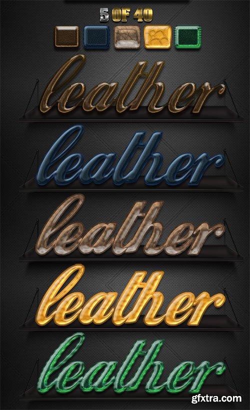 5 Elegant Leather Styles Psd