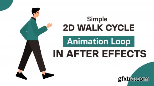 Simple 2d Walk cycle Animation loop in After Effects