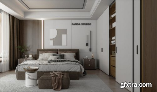 Bedroom Scene for Sketchup by Nghia House