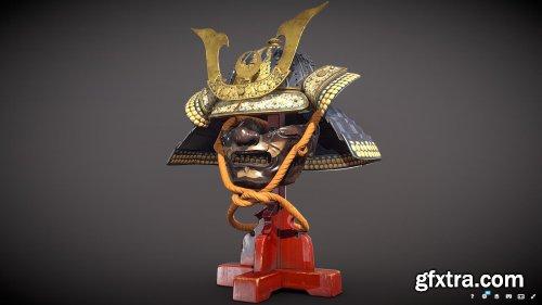 Samurai Helm / Kabuto (Low-poly)